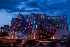 Las Vegas   |   Cleveland Clinic Lou Ruvo Center for Brain Health (JB_1984) Tags: clevelandclinic louruvocenterforbrainhealth bluehour twilight hdr highdynamicrange downtownlasvegas lasvegas nevada nv unitedstates usa nikon d7100 nikond7100