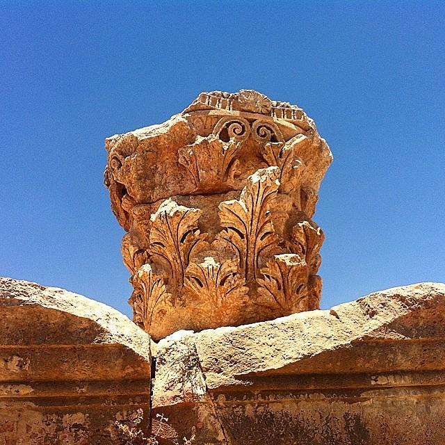 Giordania. Capitello corinzio a Jerash.