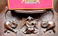 Christchurch Priory (richardr) Tags: wood old uk greatbritain christchurch england english heritage history church angel europe european unitedkingdom britain medieval historic dorset british europeanunion priory misericord christchurchpriory