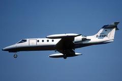 Z) Taunus Air Learjet 35A D-CGRC BCN 31/08/2002 (jordi757) Tags: barcelona nikon airplanes bcn kodachrome f90x learjet avions elprat learjet35 lebl taunusair dcgrc