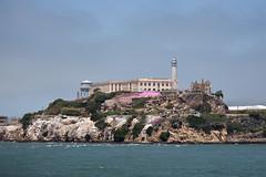 Pretty in Pink, The Rock - Alcatraz Island (AGrinberg) Tags: cruise pink island prison alcatraz sfbay jeremiahobrien 35798alcatraz