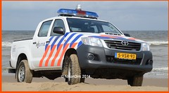 Dutch Police Toyota Hilux Katwijk. (NikonDirk) Tags: nikondirk katwijk sar toyota hilux hulpverlening politie police dutch den haag holland hollands beach patrol foto 5vsr93