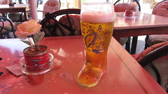 Boot of Beer in Rhodes (deltrems) Tags: beer glass boot wellington rodos rhodes lager mythos