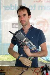 Nico and his robohand (nicknormal) Tags: robot hand makerfaire makerfairebayarea inmoov