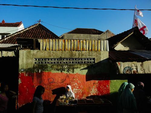 Takjil vendors in Wanasari Village. Bali, 2014