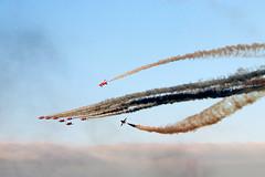 The Red Arrows (Cumberland Patriot) Tags: the red arrows raf royal air force theredarrows aerobatic display team bae hawker t1a hawk jet trainer training aircraft airplane dawlish carnival devon blue sky barrel roll