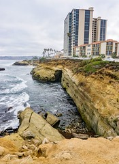 La Jolla coastline ((Jessica)) Tags: blue beach water lajolla pw sandiego ocean foam waves california teal coast