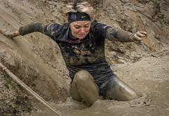 soft landing (stevefge) Tags: berendonck strongviking viking mud reflectyourworld event endurance girls people candid nederland netherlands nederlandvandaag action