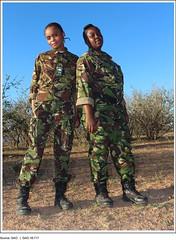 "Figure 9: Two Members of the ""Black Mambas,"" an All-Female Antipoaching Patrol in South Africa (U.S. GAO) Tags: gao governmentaccountabilityoffice usgovernmentaccountabilityoffice usgao unitedstatesgovernmentaccountabilityoffice government congress watchdog oversight governmentwatchdog gao16717 combatingwildlifetrafficking apa 2015annualprogressassessment cites conventiononinternationaltradeinendangeredspeciesofwildfaunaandflora cwt dhs departmentofhomelandsecurity doi departmentoftheinterior doj departmentofjustice eent endangeredecosystemofnortherntanzania fto foreignterroristorganization fws usfishandwildlifeservice nationalstrategyforcombatingwildlifetraffickingimplementationplan inl bureauofinternationalnarcoticsandlawenforcementaffairs interpol internationalcriminalpoliceorganization itap internationaltechnicalassistanceprogram ngo nongovernmentalorganization nrt northernrangelandstrust odni officeofthedirectorofnationalintelligence smart spatialmonitoringandreportingtool state departmentofstate nationalstrategyforcombatingwildlifetrafficking task force presidentialtaskforceonwildlifetrafficking treasury departmentofthetreasury unodc unitednationsofficeondrugsandcrime usaid usagencyforinternationaldevelopment blackmambas allfemaleantipoachingpatrol southafrica"