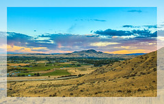 Emmett Valley (http://fineartamerica.com/profiles/robert-bales.ht) Tags: forupload projects gemcounty idaho mountain emmett sweet sunrise squawbutte farm landscape rollinghills scenic idahophotography treasurevalley clouds spring emmettvalley emmettphotography trees sceniclandscapephotography thebutte haybales canonshooter beautiful sensational awesome magnificent peaceful surreal sublime magical spiritual inspiring inspirational wow stupendous robertbales town butte goldenhour sunset valley framed