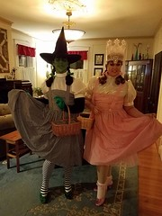 The Witches of OZ dressed in their 2016 Halloween costumes for Salem Haunted Happenings (Halloween in Oz) Tags: seanbrown wickedwitchofthewest halloween2016 salem ma hawthornehotelcostumeball sevendeadlysins glinda oz halloweeninoz salemhauntedhappenings
