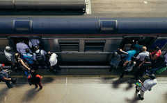 Time to Go (Guilherme Nicholas) Tags: guilhermenicholas train street streetphotography streets station subway people nikon