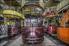 Crich Tramway Village 5 (Darwinsgift) Tags: crich tramway village national tram museum matlock derbyshire hdr photomatix transport vintage old antique nikkor 14mm f28 d nikon d810 station