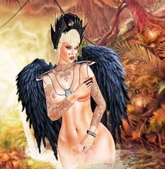 Angelwar (Pituxita) Tags: angel fall dark queen star warrior love fashion