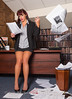 Exasperated with the paperwork (trethurffe2001) Tags: bin color colour desk exasperation executive floor glasses indoor indoors lifestyle longlegs office paper scatter studio styles throw wastebin ripley england unitedkingdom gb