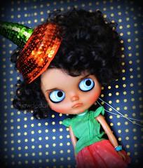 Monday Pumpkin (Lawdeda ) Tags: monday face stupid day little dolls room tbl custom tan blythe pouty doll picmonkey