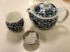 Brewing Raspberry Rooibos Tea (canadianlookin) Tags: tea teapot teastory winnipeg raspberry rooibos comfort october 2016