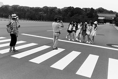 Imperial Palace Gardens, Tokyo (fabiolug) Tags: photographer photographing women man girls lines crossing park garden imperialpalacegardens people street streetphotography tokyo japan japanese asia leicammonochrom mmonochrom monochrom leicamonochrom leica leicam rangefinder blackandwhite blackwhite bw monochrome biancoenero 35mmsummicronasph 35mmf2summicronasph summicronm35mmf2asph summicron35mmf2asph 35mm summicron leicasummicron leica35mm