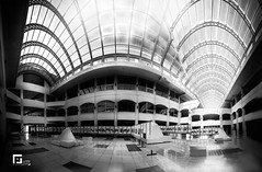 Matched views (Rebalj) Tags: architecture calm panorama interior perspective views stillness point view context black white