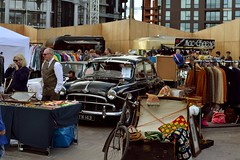 2016-10-02: Blocked In (psyxjaw) Tags: london londonist vintage festival classic car boot sale classiccar kingscross shopping lewiscubitsquare vehicle drive