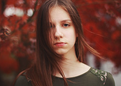 (Mary Jo.) Tags: wind windy hair maryjo mj portrait fall colors red seasons canon 60d 50mm f14