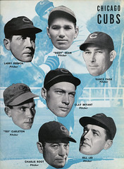 1938 World Series Program Cubs Pitchers (Regional History Center & NIU Archives) Tags: worldseries northernillinoisuniversity regionalhistorycenter baseball chicago chicagocubs wrigleyfield 1938 dizzy dean tex carleton charlie root cubs