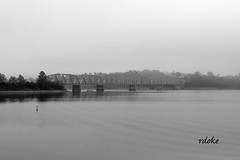 Hwy 13 (Rdoke) Tags: lake fog tablerock tablerocklake bridge