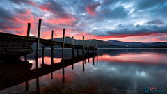 Ashness Jetty Dusk Skies (Dave Massey Photography) Tags: derwentwater ashnessjetty dusk sunset lakedistrict cumbria serene calm reflection