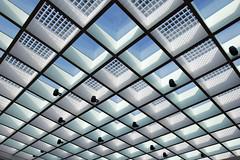 - looking up - (Jacqueline ter Haar) Tags: rotterdam polakbuilding eur lookingup light pastel pattern skylights roof