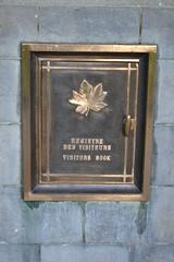 Visitors Book Box, Vancouver Corner. (greentool2002) Tags: brooding soldier vancouver corner visitors book box saint julien memorial canadian 2nd battle ypres