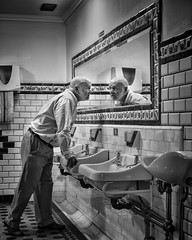 The moment you realise you're old (adrian.sadlier) Tags: selfie self portrait male old gents reflection realisation discovery time nationallibraryofireland kildarestreet dublin
