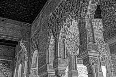 Palacio Nazaries pillars (Samir Rorless) Tags: sony pentax smc takumar 28mm f35 andalusia alhambra a6000 granada