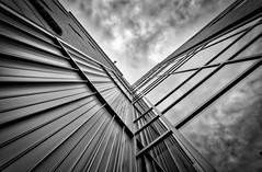 Brick Steel Glass, Austin TX (sbmeaper1) Tags: hdr austin texas tx ut university architecture reflection black white
