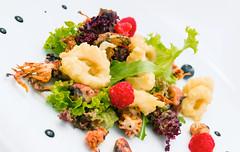 Fritto di Calamari, Calamaretti e Seppioline su Misticanza (lacookagency) Tags: photoshoot still life chef food dish white restaurant styling squid sicily background lacookagency gourmetidentity foodstyle