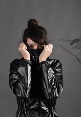 Shiny Nylon Raincoat (betrenchcoated) Tags: raincoat regenmantel regenjacke hooded hood shiny nylon black beautifulgirl jacket