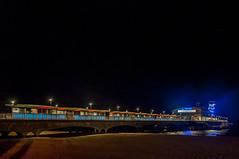 Night Pier (Tony Shertila) Tags: 20161026211240 bournemouth england gbr unitedkingdom westbourneandwestcliffward geo:lat=5071562850 geo:lon=187714934 geotagged europe britain dorset poole coast town pier landmark beach outdoor weather night clear sky