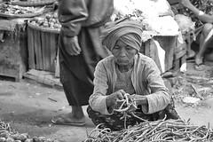 la venditrice di legumi (mat56.) Tags: venditrice legumi saleswoman vegetable mercato market donna woman vecchia old bagan myanmar birmania burma asia bianco black nero white ritratto ritratti portrait portraits persone people antonio romei mat56 candid