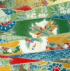Kyoto yuzen washi 5 (tengds) Tags: handmadepaper japanesepaper yuzenwashi kyotoyuzen washi chiyogami flowers leaves arrows lattice red blue green tan white tengds