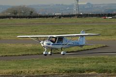 G-CISG. (aitch tee) Tags: cardiffairport aircraft generalaviation gcisg cwlegff maesawyrcaerdydd walesuk