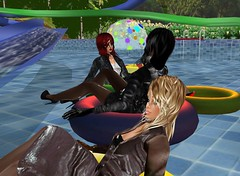 Waterpark 3 (SoakinJo) Tags: imvu wetlook wetclothes soakinjo highheels wetsuit clothed pool