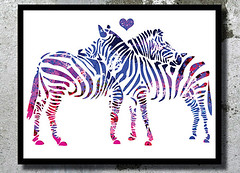 Zebras Love Art Watercolor Fine Print Wedding Gift Idea Watercolor painting Home decor Animal Watercolor Zebras poster wall art bedroom wall (bogiartprint) Tags: artandcollectibles prints giclee watercolor artwatercolor animalwatercolor zebra zebrawatercolor zebraposter zebraillustration zebrapainting weddinggiftidea weddinglove heartwatercolor arthomedecor watercolordecor