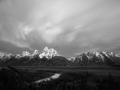 The Grand Tetons and Snake River (RickrPhoto) Tags: park bw white black rose 30 digital photoshop photography one back long exposure image 10 rick grand hasselblad stop national lee nd medium format wyoming teton filters polarizer h2 phase circular cpl 105mm p45 cs6 blinkagain rickrphoto
