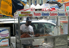 honey roasted peanuts (roberttheb) Tags: street nyc food peanuts honey vendor roasted canonpowershot