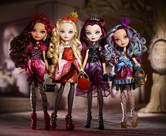Promo 8 Group shot (Veni Vidi Dolli) Tags: dolls mattel applewhite maddiehatter ravenqueen everafterhigh madelinehatter briarbeauty