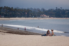 Two Girls on the Beach at Santa Barbara, California (ChrisGoldNY) Tags: california santabarbara poster forsale posters albumcover bookcover centralcoast bookcovers albumcovers chrisgoldny chrisgoldberg chrisgold chrisgoldphoto chrisgoldphotos