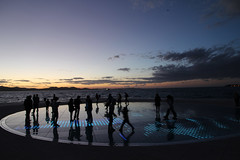 sunset art installation (cyberjani) Tags: sky zadar dalmatia