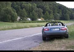 Abendausfahrt (sualk61) Tags: car germany deutschland nc fuji mazda miata campingplatz mx5 cabriolet kfz badenwurttemberg sualk61 landstrase xpro1 cropfactor15 unterheinriet fujifilmxpro1 fujinonxf35mmf14r heilbronnerumgebung lowensteinerberge