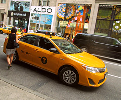 stop! (Robert S. Photography) Tags: yellow manhattan cab taxi midtown canonpowershot hailing
