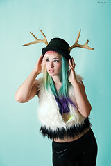 IMG_8770_M1Lsm (chrystalblue2003) Tags: hat fur braces outdoor antlers tophat multicoloredhair cactusprick