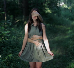 not somebody who has seen the light (karachristina) Tags: nature girl beautiful pretty inspired gimp conceptual edit 50mm18 brookeshaden canont3